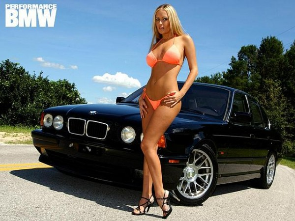 Sexy blonde and BMW