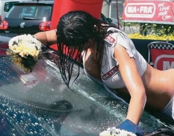 Sexy car wash girls