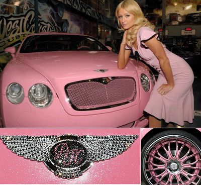 Paris Hilton & Pink Bentley