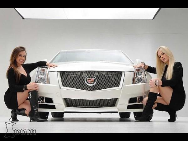 Sexy girl & Cadillac