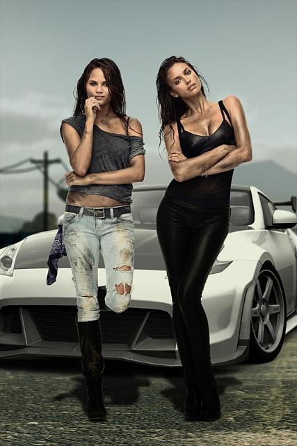 Sexy girls & hot car
