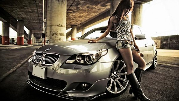 Sexy girl & BMW
