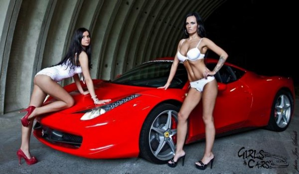 Sexy girls & hot car