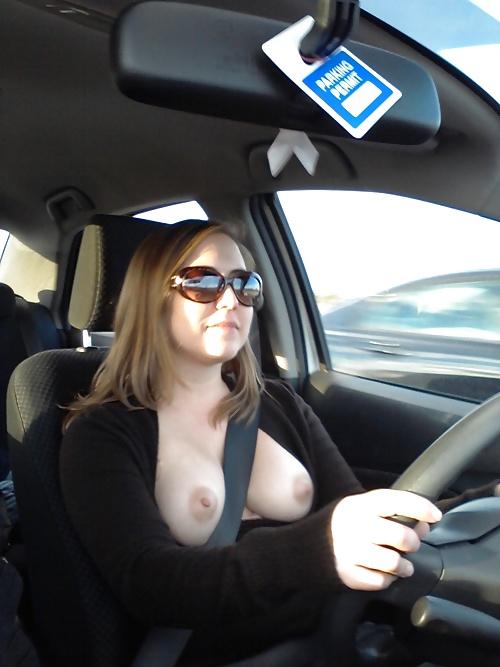 Amateur Girls Flashing Boobs in Cars