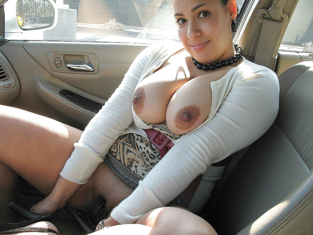 Congratulate, Car showing tits in public with