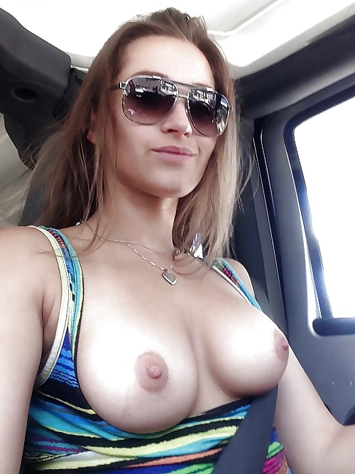 Amateur Girls Flashing Boobs in Cars