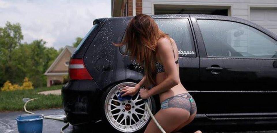 Tehvids blonde masturbates in car wash picture 217