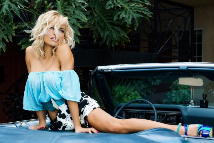 Hot girl Dani Mathers posing with cars