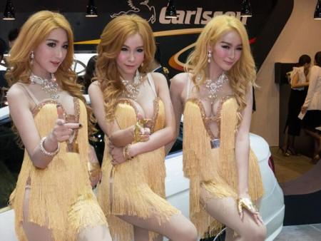 Sexy Asian Girls At Bangkok International Auto Salon 2015