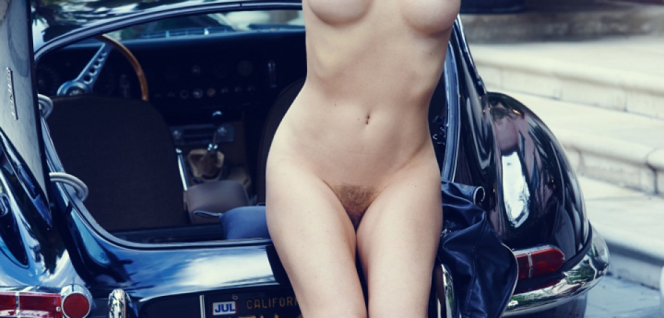 Hot Blonde Babe Kayslee Collins in A Classic Car 08