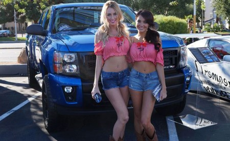 Sexy Girls and Cars on SEMA Show Las Vegas