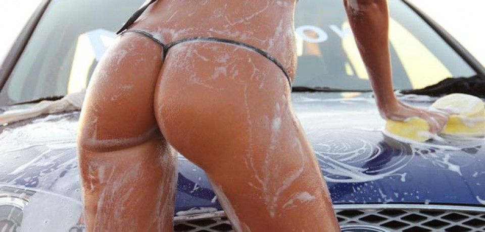 Sexy Car Wash Girls At 402 Street Race Show