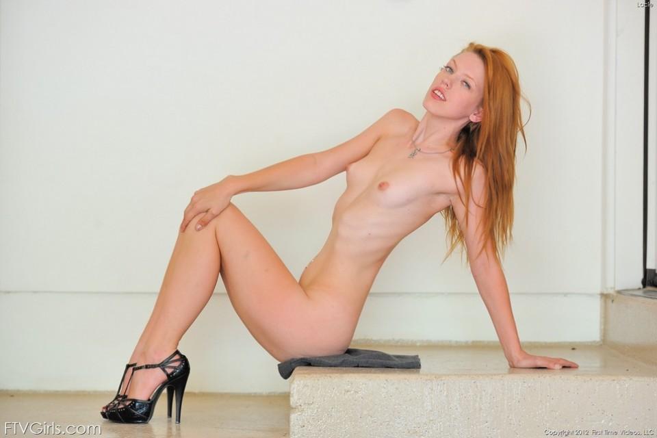 Sexy Redhead Teen Lacie & Hot Car